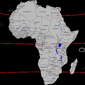 Politisk karta över Afrikaa