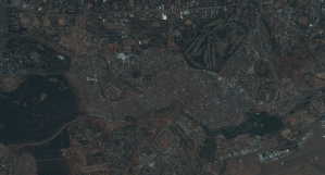 Satellitbild över Kibera