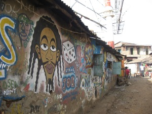 Grafitti i Kibera