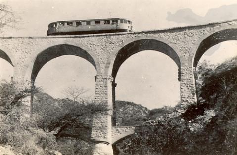 Järnvägsbro i Etiopien