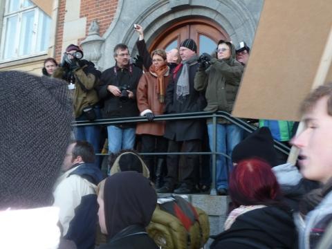 Fotografer under lördagens demonstration